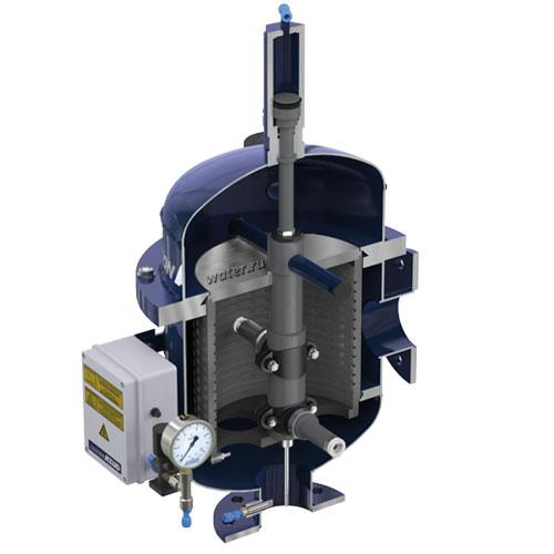 Автоматический сетчатый фильтр с гидравлическим приводом промывки AZUD LUXON LCA HF 1600